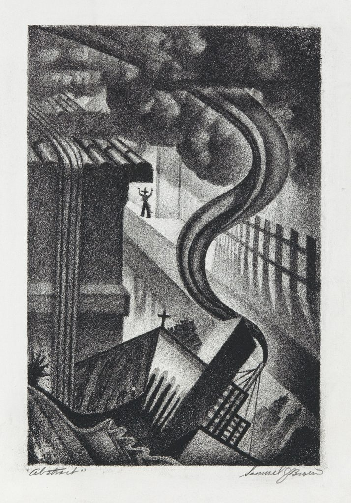Samuel J. Brown, Abstract, lithograph, circa 1930s.