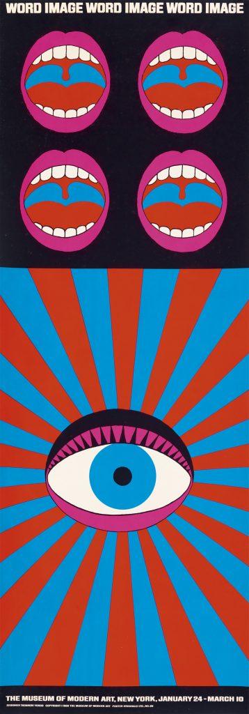 Tadanori Yokoo, Word Image, 1968.