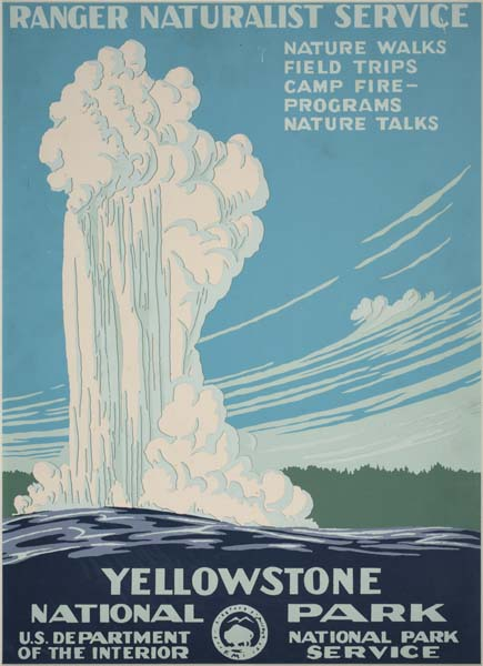 Unknown designer, Yellowstone National Park, circa 1938. WPA National Park Poster