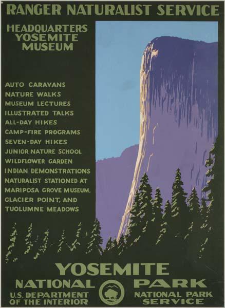 Unknown designer, Yosemite National Park, circa 1938. WPA Poster